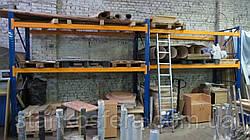Складські стелажі бо для палет/європіддонів, поличного зберігання