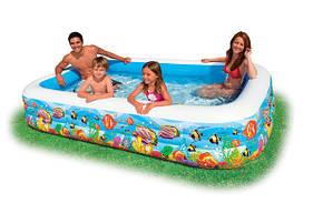 "Детский бассейн ""Фэмили"" с рыбками, Intex 58485, 305 х 183 х 56 см"