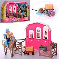 Кукла с лошадью Конюшня 899-56: лошадь + аксессуары