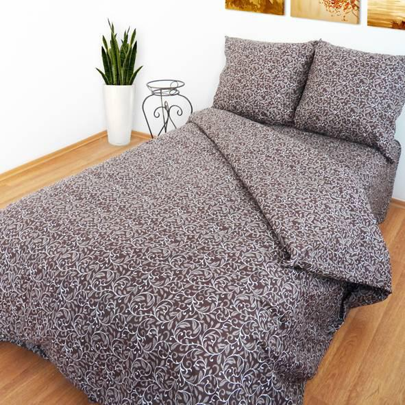 """Ткань для постельного белья Бязь """"Gold"""" Lux GL3010brown (50м)"""