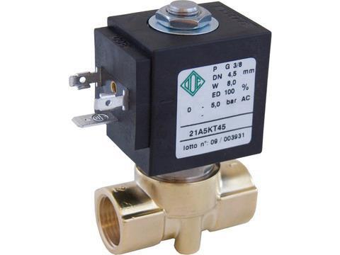 Электромагнитный клапан прямого действия 21A5KT45 (ODE, Italy), G 3/8, до 180 °C