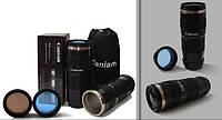 Термочашка в форме объектива Caniam (Canon) EF 70-200 с чехлом Черная