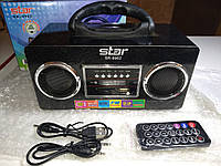 Портативная колонка STAR SR-8962 + фонарь (MP3, USB, FM, пульт ДУ, часы)