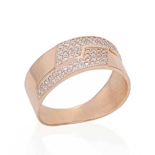 Золотое кольцо с фианитами. KП1704