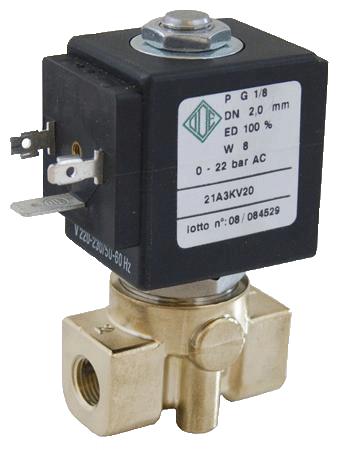 Электромагнитный клапан прямого действия 21A2KT15 (ODE, Italy), G1/4