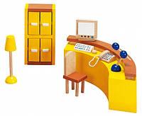 Набор для кукол Мебель для офиса - Ресепшин Goki 51696G из натурального дерева