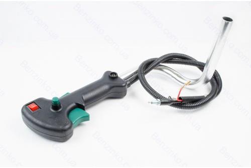 Ручка газу в зборі з трубкою для бензокоси