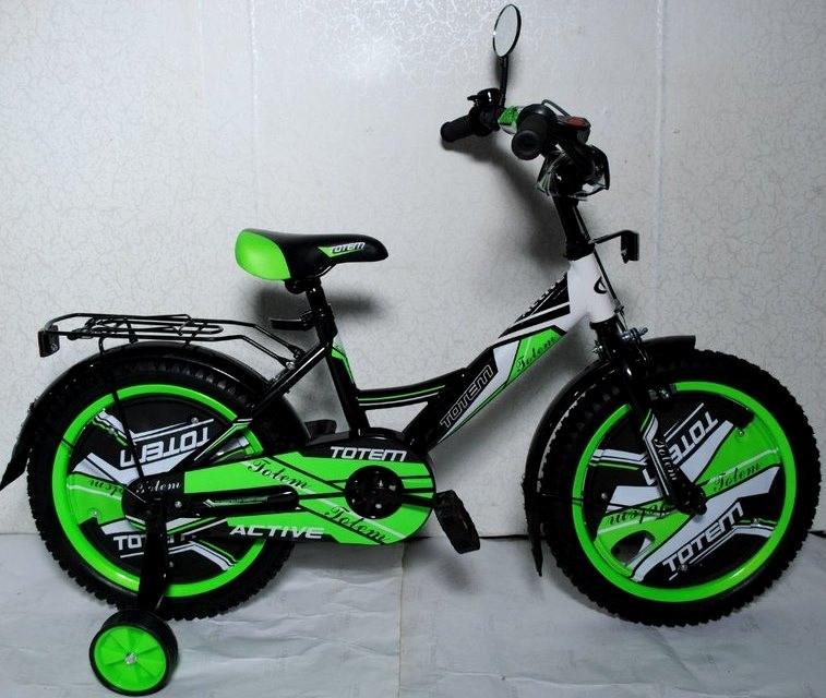"""Детский велосипед TOTEM ACTIVE 16""""  Салатовый"""
