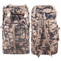 """Рюкзак туристический """"Beige Camouflage"""" 66х36х16см, полиэстер, 4 наружных кармана на змейке, 2 боковых кармана-сетки, рюкзак для активного отдыха,"""
