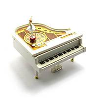 Рояль с танцующей балериной музыкальная игрушка (14х16х15 см)