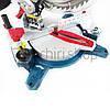 Торцовочная пила с лазером Boxer BX-2073, стусло без протяжки, поворотная торцевая пила, торцовка по дереву, фото 6