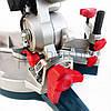 Торцовочная пила с лазером Boxer BX-2073, стусло без протяжки, поворотная торцевая пила, торцовка по дереву, фото 8