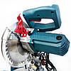 Торцовочная пила с лазером Boxer BX-2073, стусло без протяжки, поворотная торцевая пила, торцовка по дереву, фото 5