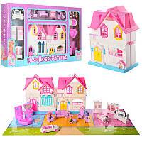 Кукольный домик Sweety Home 921D: мебель + фигурки + машина (звук/свет)