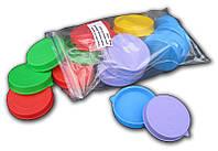 """Крышка полиэтиленовая цветная майонезная в упаковке по 20 штук """"Юнипласт"""""""