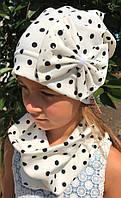 Комплект шапка и шарф-хомут для девочки - D1647