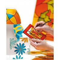 Краска витражная Пебео Pebeo Vitrail (Франция) 45 мл, прозрачная,32лосось, фото 1