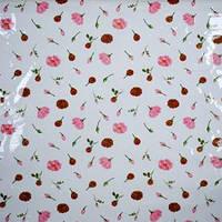 "Клеенка ПВХ в рулоне силикон France ""Цветочек"" TM017, 1,40*30м, клеенка для кухонного стола"
