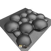 "Пластиковая форма для 3D панелей ""Шары"" (форма для 3д панелей из абс пластика)"