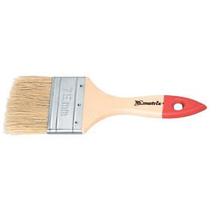 """Кисти плоскме """"Стандарт"""", натуральная щетина, деревянная ручка MTX"""