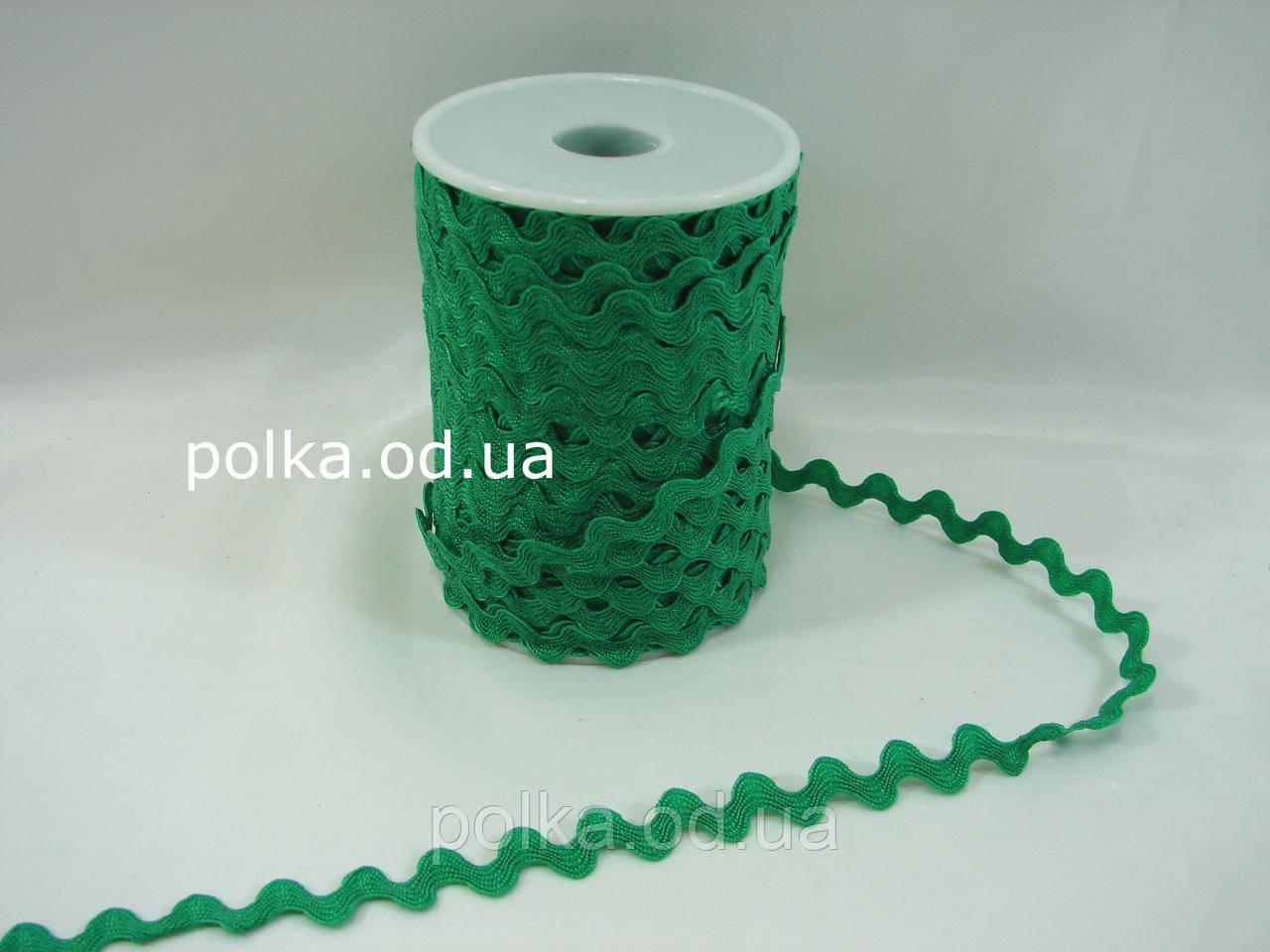 Зеленая тесьма вьюнок 5-6мм (1 уп -45метров)