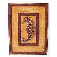 """Картина деревянная """"Морской конек"""" (30x40) (Индонезия)"""
