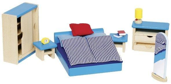 Набор для кукол Мебель для спальни Goki 51906G из натурального дерева