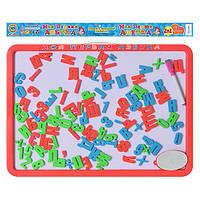 JT Досточка 0187 UK магнитная азбука бол, 2в1: русский/украинский алфавит, в кульке, 44-32см