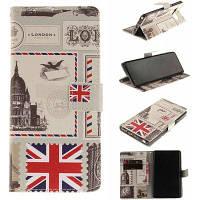 Держатель карты бумажник с подставкой флип магнитный шаблон для всего тела Чехол флаг Великобритании PU+ТПУ кожаный чехол для Samsung Галактики