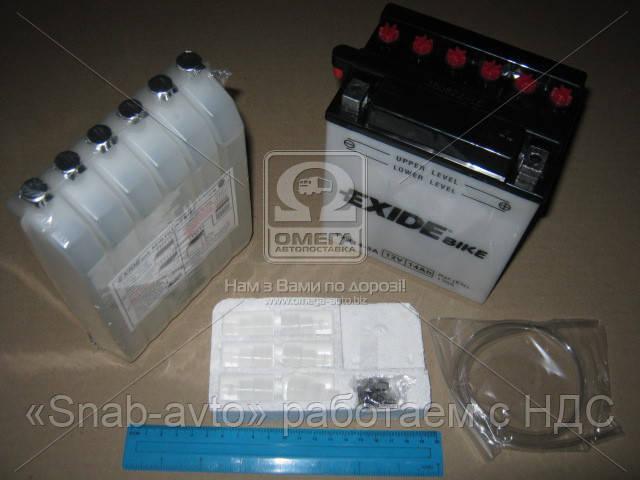 Аккумулятор   14Ah-12v Exide (12N14-3A) (134х89х166) R, EN130 (арт. 12N14-3A), AFHZX