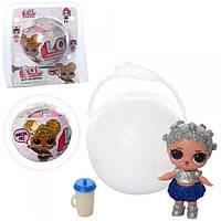 Кукла сюрприз в шарике LOL Glitter Series 313508: размер шарика 9,5см
