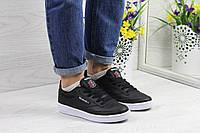 Подростковые,женские кроссовки Reebok Workout черно-белые