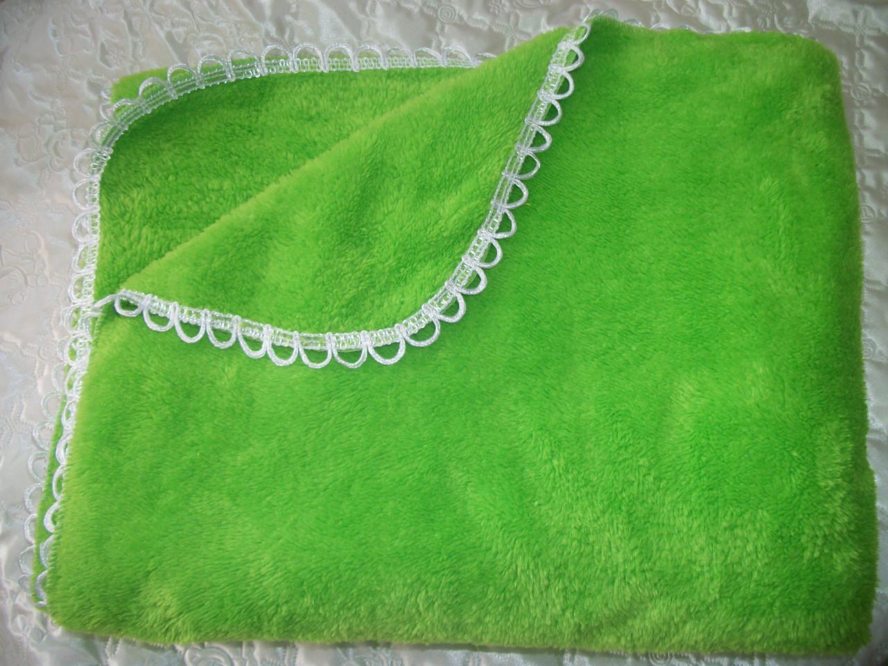 Махровый плед (зеленый)