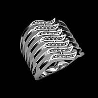 Широкое серебряное кольцо Пандора