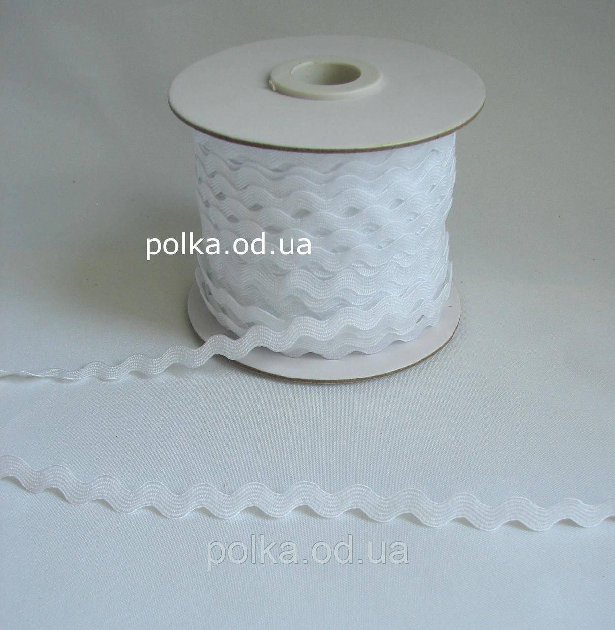 Белая тесьма вьюнок (1 уп-45метров)