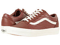Кроссовки/Кеды (Оригинал) Vans Old Skool™ (Moto Leather) Madder Brown/Blanc De Blanc