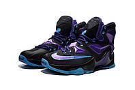 Баскетбольные кроссовки Nike LeBron XIII 13 Black Blue Purple, фото 1