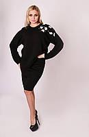 Теплый костюм с юбкой в 4 цветах 42-46 размера