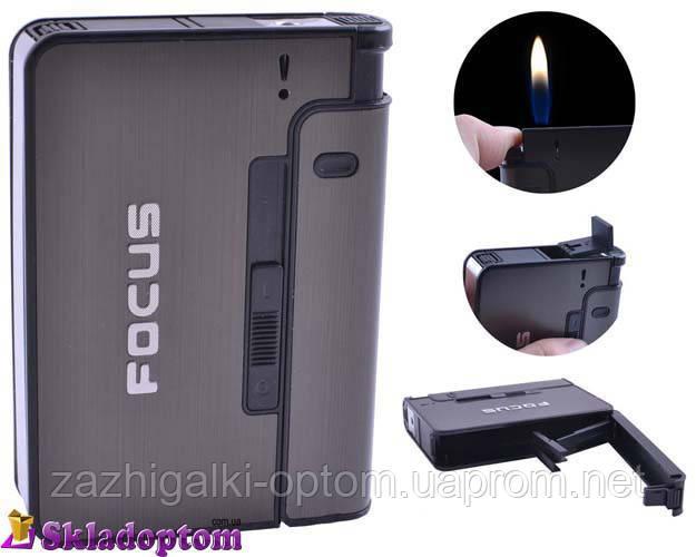 Портсигар с зажигалкой FOCUS 4938 Black *