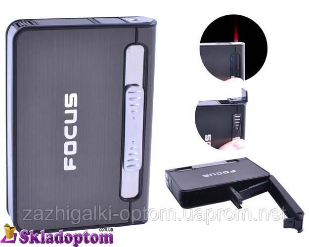 Портсигар с зажигалкой FOCUS 4939 Black