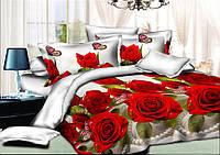 Двуспальный комплект постельного белья евро 200*220 хлопок  (6183) TM KRISPOL Украина