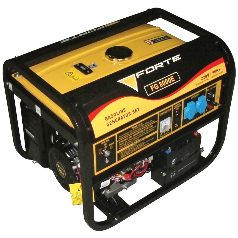 Бензиновий генератор FORTE FG8000E з електростартером