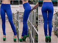 Женские штаны-лосины с двумя кармашками сзади, батал, цвет электрик (44-50 р) 12П2267_1