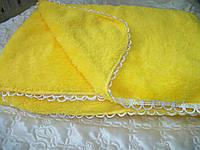 Махровый плед (желтый)