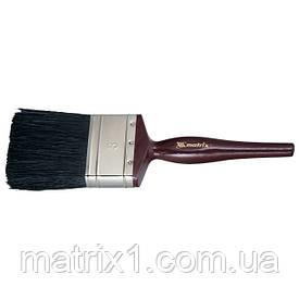 """Кисть плоская """"Декор"""" 1"""", натуральная черная щетина, деревянная ручка MTX"""