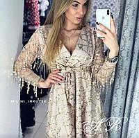 Женское красивое платье с паеткой (2 цвета), фото 1