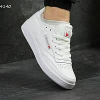 Мужские кроссовки Рибок 4140 белые новинка