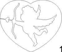 Сердце из пенопласта с фигурами 10 см