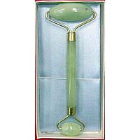 Массажер нефритовый  двойной валик с ручкой в футляре (17х8,5х2,5 см)