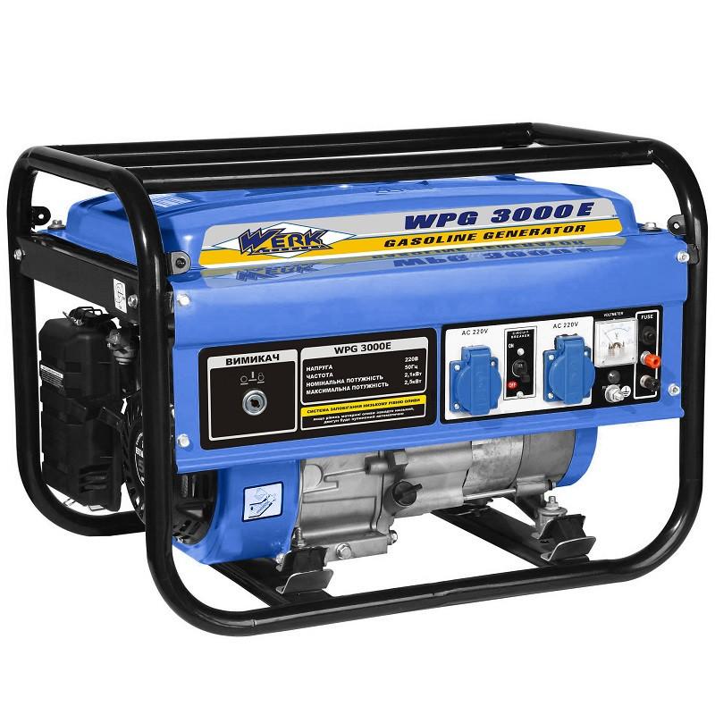 Бензиновый генератор WERK WPG3000E с электростартером